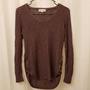 Purple Knitted Blouse